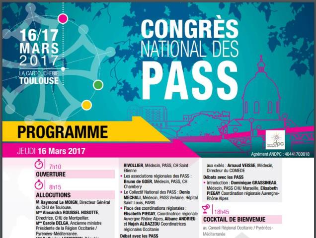 communication Congrès National des PASS 2017